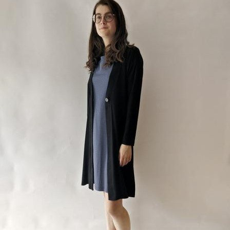 OCOBA Long Button Cardigan