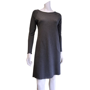 TOC French Terry Boat Neck Dress