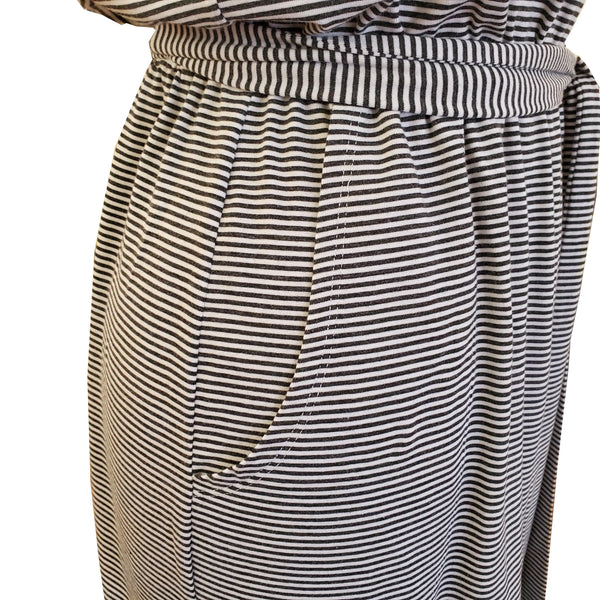 OCOBA Stripe Boat Dress w/Tie