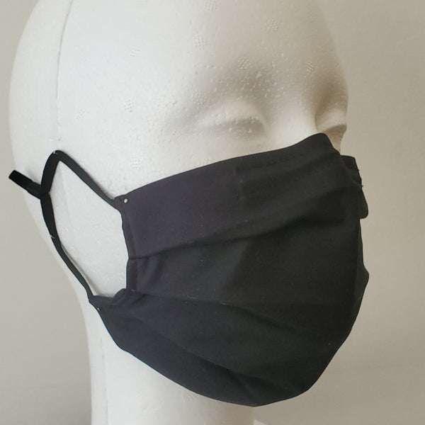 Upcycled Poplin Pleated Mask w/adjustable Ear Loops