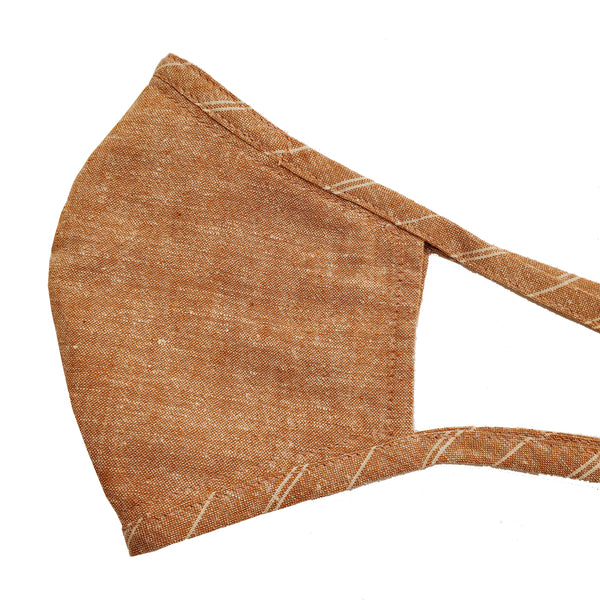 NEW Hemp Organic Cotton Mask w/coordinating Stripe Ties
