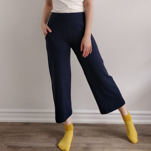 TOC French Terry Crop Wide Pant