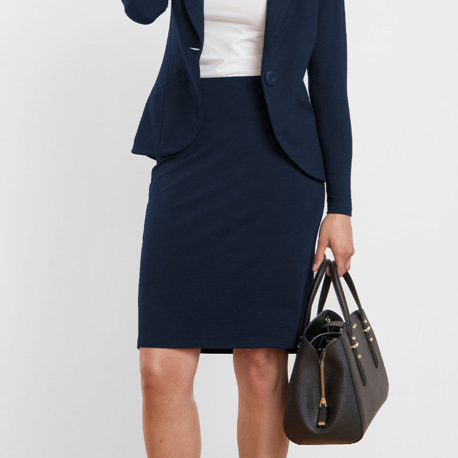 Jan Pencil Skirt - Navy