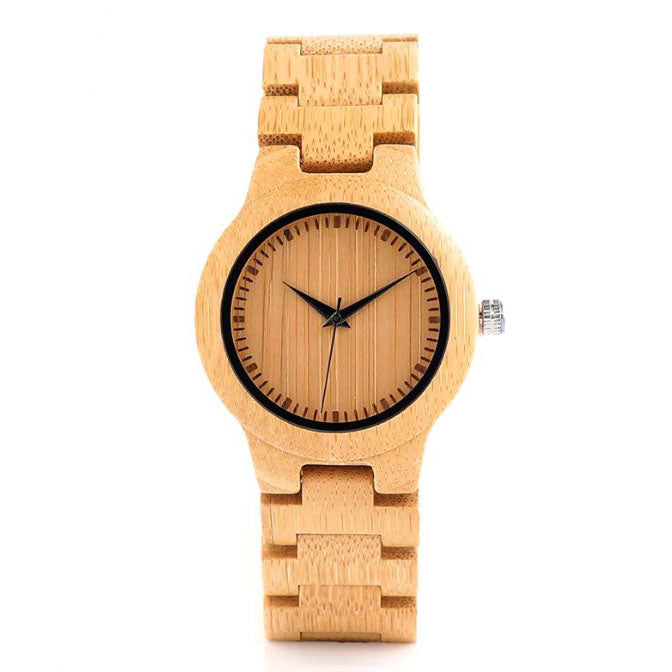 Bamboo Watch w/Wood Band