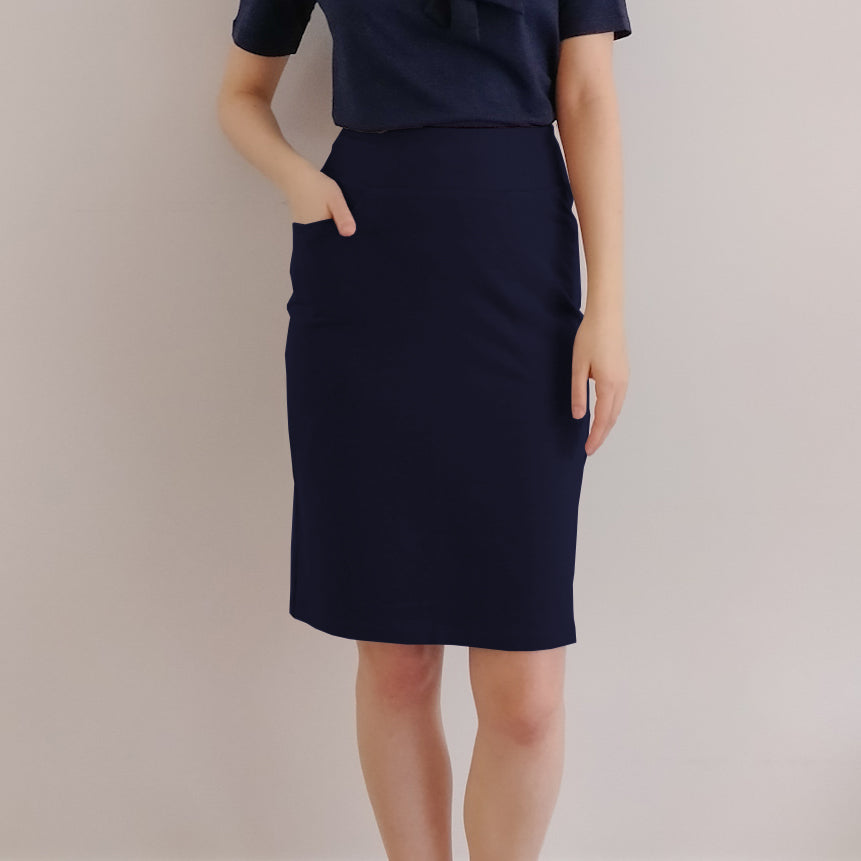 TOC French Terry Pencil Skirt