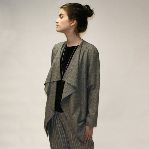 Hemp Heather Unstructured Jacket