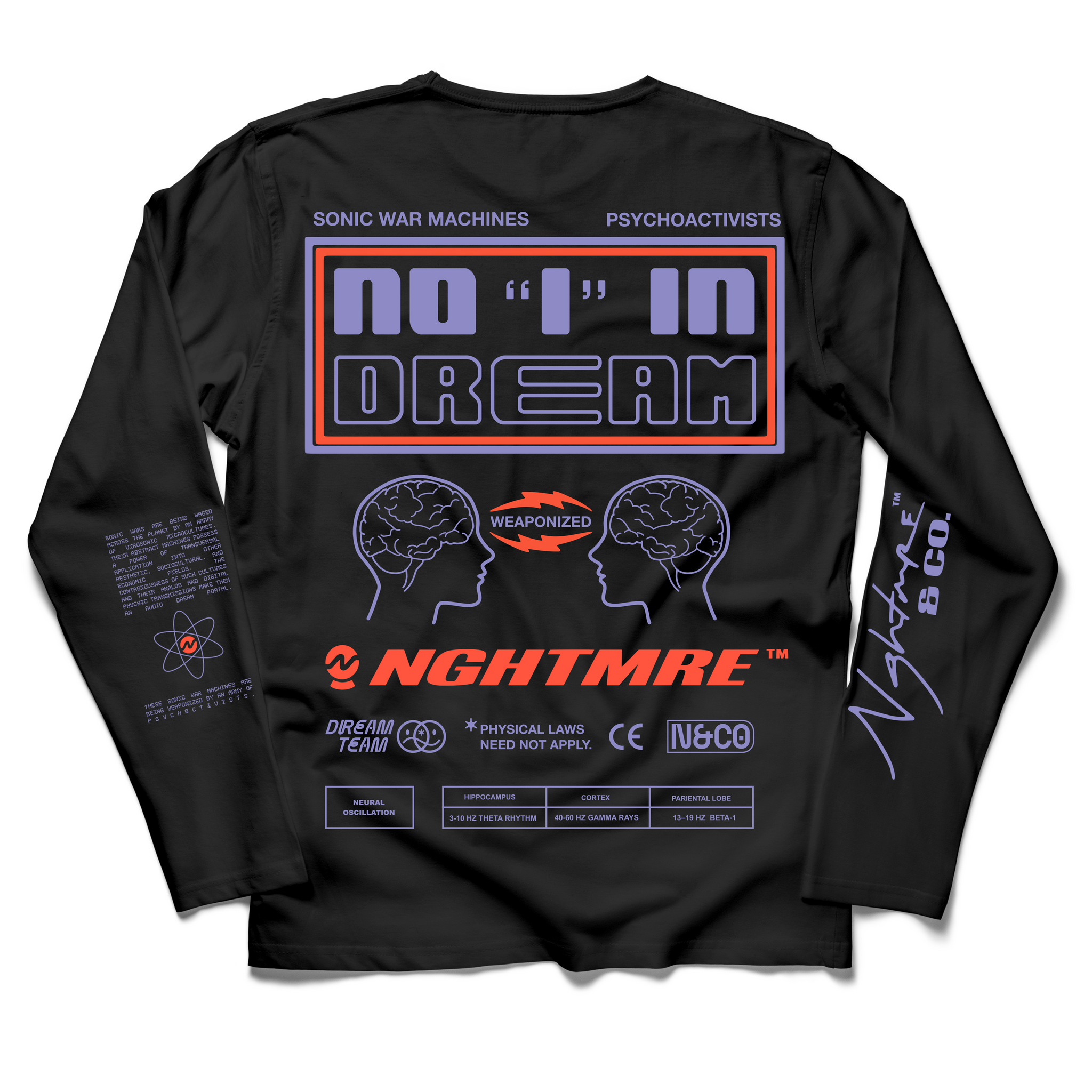 No I In Dream Long Sleeve (Black)