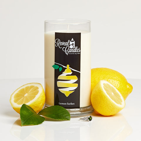 Lemon Sorbet Ring Candle