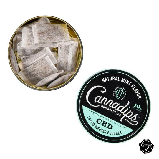 CANNADIPS NATURAL MINT 150MG CBD SINGLE TIN - Higher Path UK