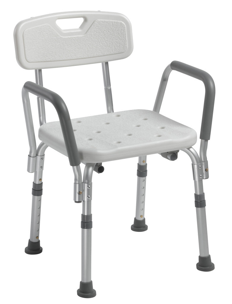 Shower Chair w/Back & Removable Arms