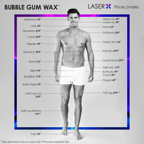 Bubble Gum Wax LaserX Hair Removal Price for Men