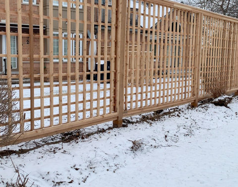 Fence with Redwood Fence Armor Post Protection