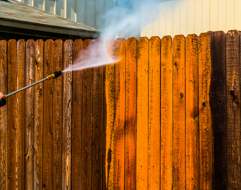 Cleaning a fence