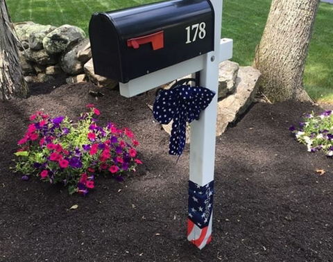 Mailbox post with Patriotic Edition