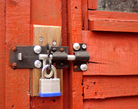 Lock on shed