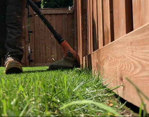 Weedeating fence