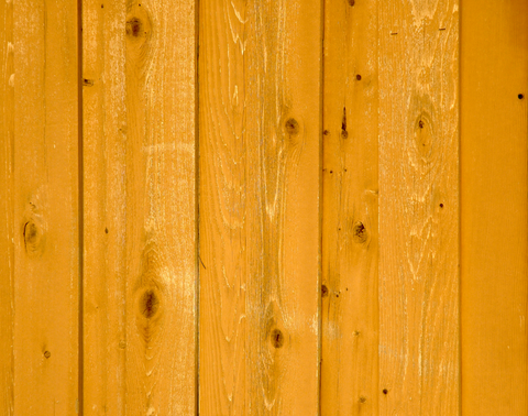 Stained fence wood grain