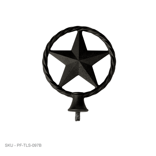 Post Caps Accent Finials Texas Star - Lasso - Fence Armor