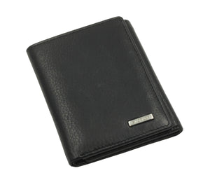 JAMES Mens Genuine Leather Trifold Wallet Zipped Coin Pocket | Multi Credit Card Holder ID Window - SADDLER ACCESSORIES