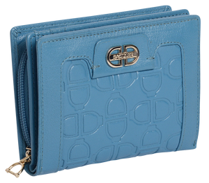 ISLA Womens Real Leather Multi Credit Card Purse Wallet with Zip Coin Pocket SADDL-2201DD - SADDLER ACCESSORIES