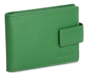ROBYN Womens Real Leather Credit Card Holder with Tab - SADDLER ACCESSORIES