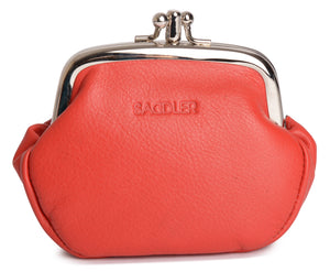LOLA Womens Real Leather Triple Frame Coin Purse | Ladies Pouch | Gift Boxed SADDL-2038 - SADDLER ACCESSORIES