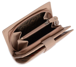 HOLLY Womens Luxurious Leather Bifold Wallet Clutch Zipper Purse | Gift Boxed SADDL-2040 - SADDLER ACCESSORIES