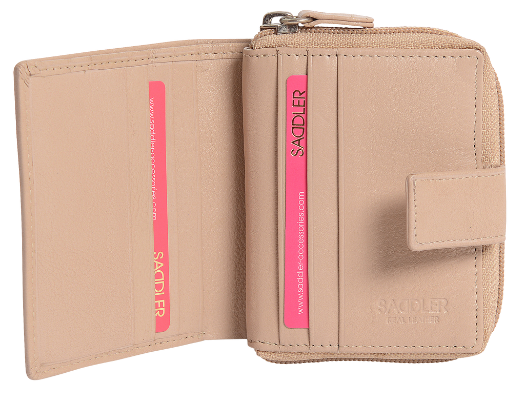 DAISY Womens Real Leather Bifold Wallet with Zipper Coin Purse | Gift Boxed SADDL-2042 - SADDLER ACCESSORIES