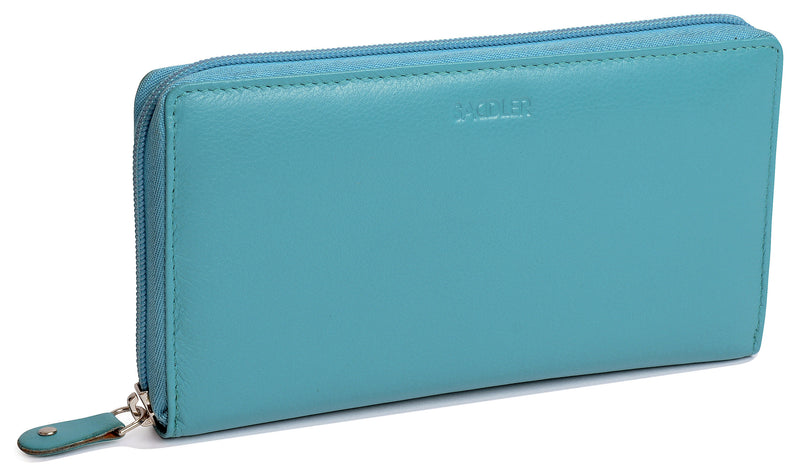 LOTTIE Womens Luxurious Leather Zip Around Clutch Long Wallet Purse| Gift Boxed SADDL-2045 - SADDLER ACCESSORIES