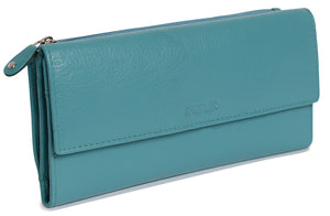 CLAIRE Womens Luxurious Real Leather Trifold Wallet Purse Clutch | Gift Boxed SADDL-2053 - SADDLER ACCESSORIES