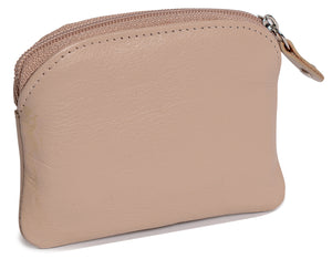 MOLLY Women's Real Leather Zip Top Coin Purse - SADDLER ACCESSORIES
