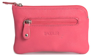 ELLIE Womens Real Leather Zip Top Coin Purse | Ladies Money Pouch | Gift Boxed SADDL-2060 - SADDLER ACCESSORIES