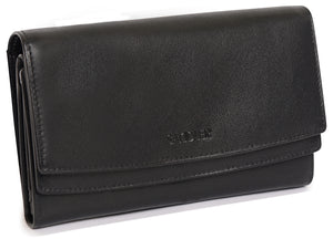 ROSIE Womens Real Leather Large Multi Section Purse Wallet Clutch | Gift Boxed SADDL-2062 - SADDLER ACCESSORIES