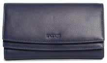 Load image into Gallery viewer, ROSIE Womens Real Leather Large Multi Section Purse Wallet Clutch | Gift Boxed SADDL-2062 - SADDLER ACCESSORIES