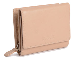 CARLA Womens Leather Credit Card Wallet Purse With Zip Coin Pocket |Gift Boxed SADDL-2070 - SADDLER ACCESSORIES