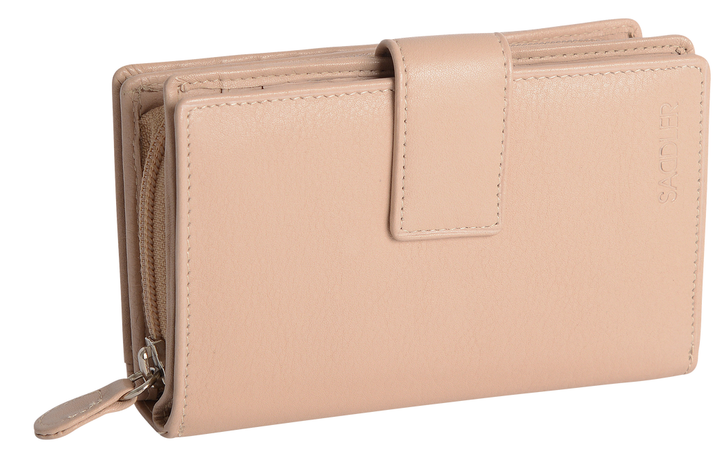 GEORGIE Womens Leather Bifold Purse Wallet Clutch with Zip Coin Purse| Gift Boxed SADDL-2068 - SADDLER ACCESSORIES