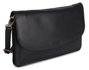OLIVIA Womens Leather Cross Body Purse Clutch - SADDLER ACCESSORIES
