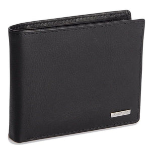RILEY Mens Genuine Leather 3 Card Billfold Wallet with ID Window & Coin Purse - SADDLER ACCESSORIES