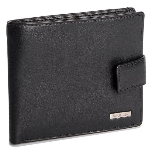 ETHAN Mens Genuine Leather 3 Section 5 Card Billfold Wallet with Tab & ID Window - SADDLER ACCESSORIES