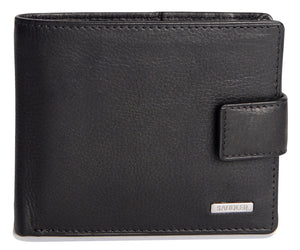 ADAM Mens Genuine Leather 2 Section 10 Credit Card Tab Billfold Wallet with Zipped Coin Pocket - SADDLER ACCESSORIES