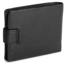 Load image into Gallery viewer, ADAM Mens Genuine Leather 2 Section 10 Credit Card Tab Billfold Wallet with Zipped Coin Pocket - SADDLER ACCESSORIES