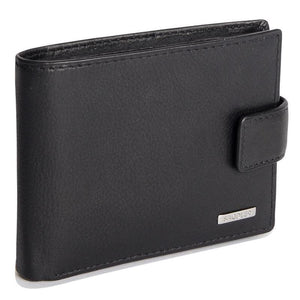 MASON Mens Genuine Leather 11 Credit Card Tab Wallet Billfold with Large ID Window - SADDLER ACCESSORIES