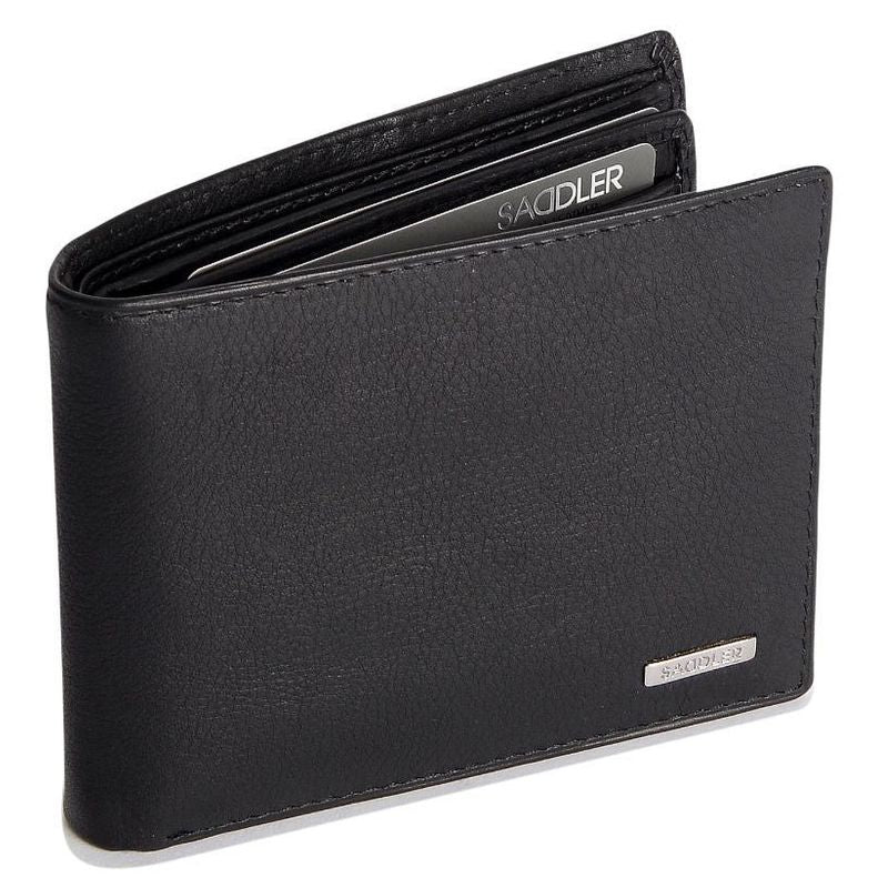 SEBASTIAN Mens Genuine Leather 2 Section 12 Credit Card Billfold Wallet with Large ID Window - SADDLER ACCESSORIES
