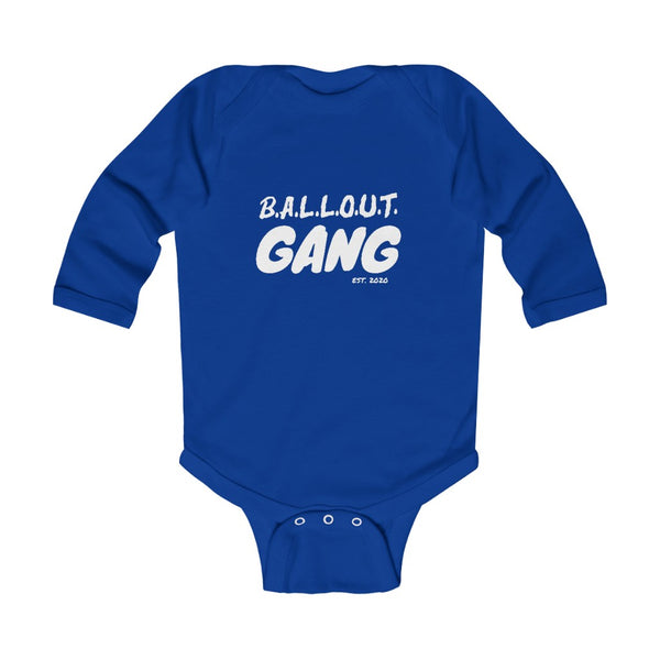 Infant Ballout Gang Long Sleeve Bodysuit