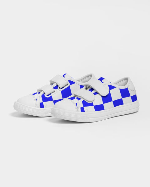 Kids Nipsey Blue Checker Velcro Sneaker