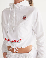 Ballout logo Women's Cropped Windbreaker