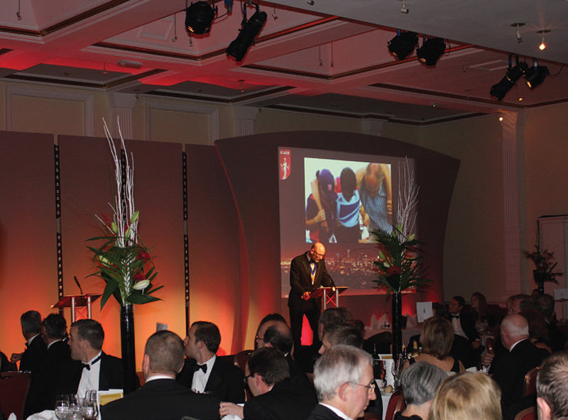 Picture of AV support lighting, staging, lectern, pop up displays etc