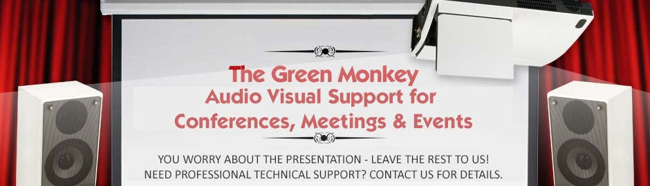 Conference and events services from green monkey