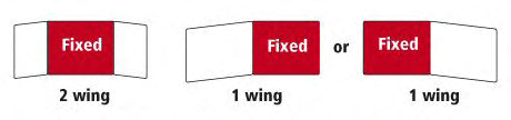 Central, left or right wing fixed diagram