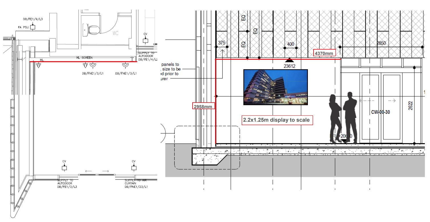 Schematic showing option one in situ at customers location